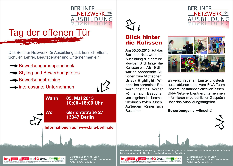 Offene tür berlin  Neuer Termin Tag der offenen Tür im BNA am 05.05.2015 - Berliner ...